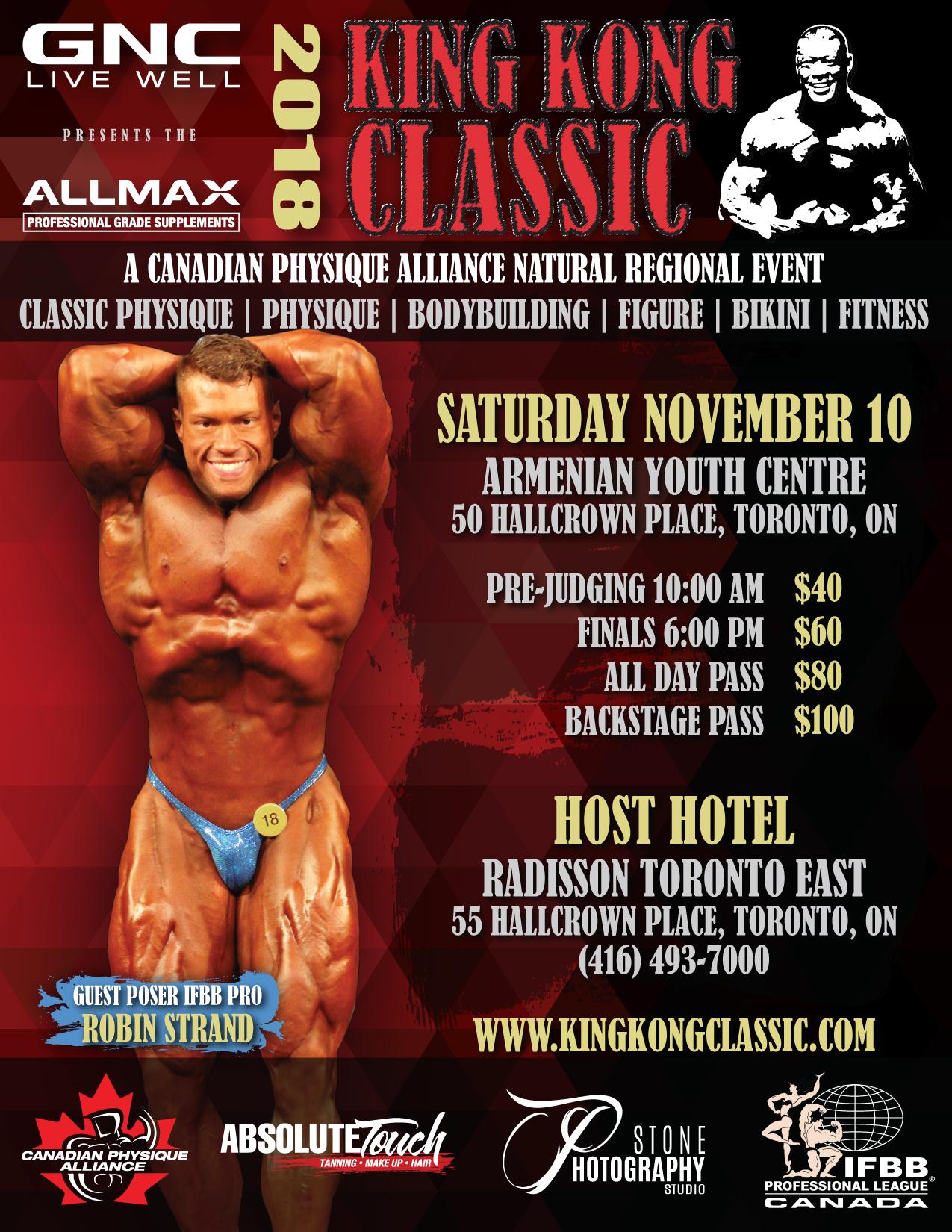 2018 GNC/Allmax King Kong Natural Championships | CPA | Bodybuilding